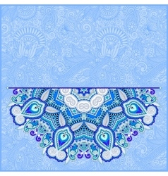 Floral blue pattern in ukrainian oriental ethnic vector