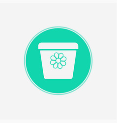 flower pot icon sign symbol vector image