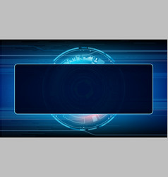 Futuristic screen a modern device control panel vector
