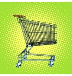 Grocery cart shopping vector