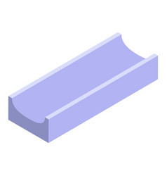 Gutter icon isometric style vector