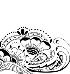 Hand-drawn abstract floral background vector