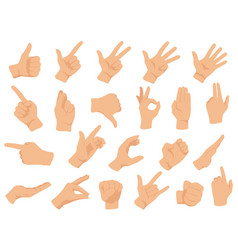 Hand gestures set counting vector