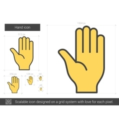 Hand line icon vector image