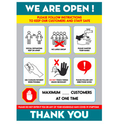 health and safety protocols or best practices vector image