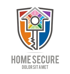 Home key house lock security buiding icon vector