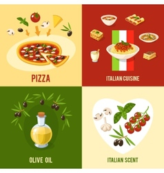 Italian Food Design Concept vector