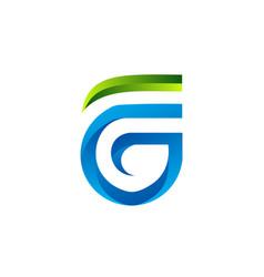letter fg logo design concept template vector image