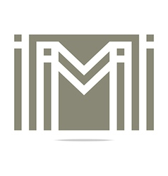 Letter m wings symbol design icons vector