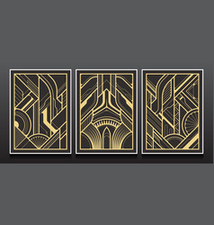 luxury geometric invitation card design vector image
