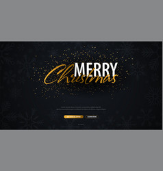 merry christmas typographical on dark background vector image