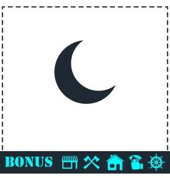 Moon icon flat vector