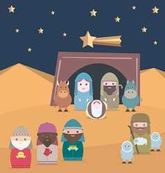 Nativity christian jesus vector image