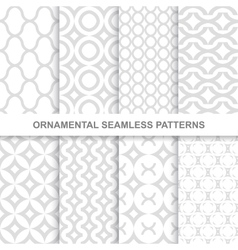 Ornamental seamless patterns vector