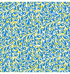 Pattern with abstract shapes in bright blue vector
