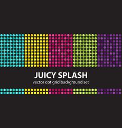 Polka dot pattern set juicy splash seamless vector