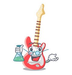Professor electric guitar in the cartoon shape vector
