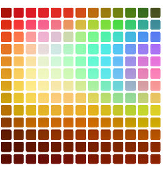 red pink green blue brown rounded mosaic vector image