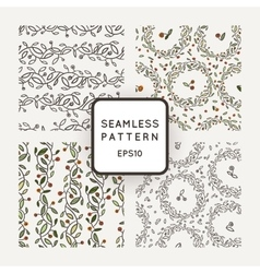 Set of seamless patterns of stylized vector image