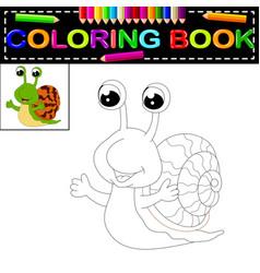 Snail coloring book vector