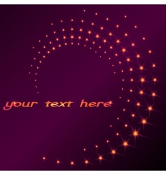 Sparkly spiral vector