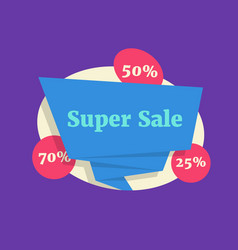 super sale color label like big discount vector image
