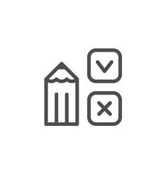 survey line icon vector image