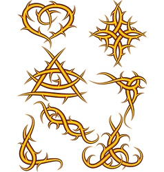 Thorn ornaments vector