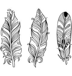 Tribal Ethnic Feathers vector