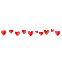 valentines day web banner vector image
