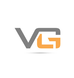 vg letter combination logo vector image