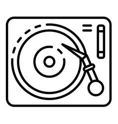 Vinyl play desk icon outline style vector