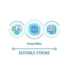 Virtual office concept icon vector