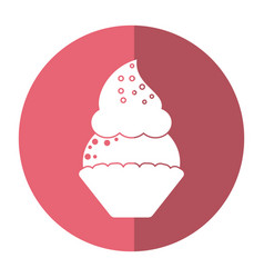 Women day cupcake dessert sweet shadow vector