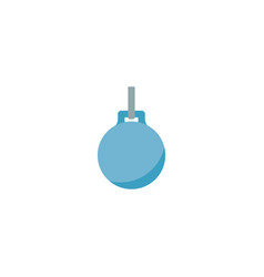 wrecking ball icon flat element vector image