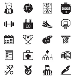 Basketball icons set vector image