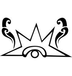 Black and White Venus Eye Glyph vector image vector image