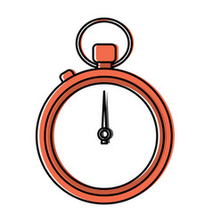 clock time stopwatch business icon vector image vector image