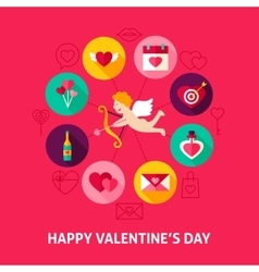 Concept Happy Valentines Day vector image vector image
