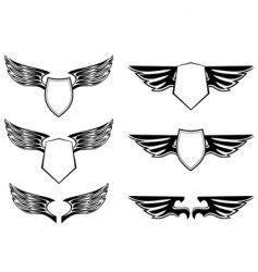 heraldic design elements vector image