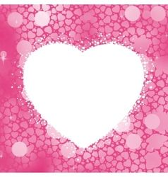 pastel heart frame vector image vector image
