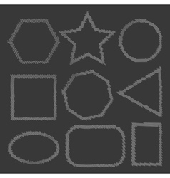 Vintage stroke frames vector image vector image