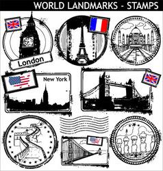 world landmarks vector image vector image