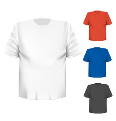 blank t-shirt any color over white background vector image
