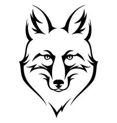 fox black vector image vector image