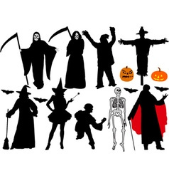 halloween vs vector image