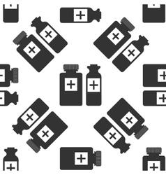 Medical bottles icon vector