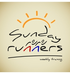 Runners logo vector image