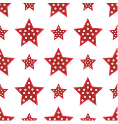 stars red decorative modern print wallpaper vector image
