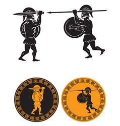 two gladiators vector image vector image